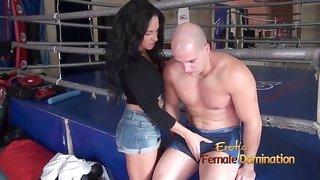 Girl Grinding Her Pussy Against Guys Leg