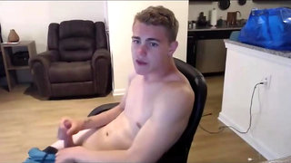 Handsome boy with big rough cock