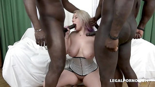 Pawg loves to fuck big black cocks and likes rough play