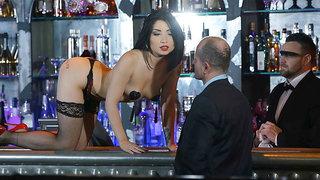 Bar slut loves to fuck the bartender