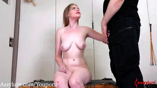 Brutal anal punishment and piss drinking for big ass blond