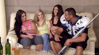 Katrin Wolf, Simony Diamond and Diana Stewart have an orgy after football