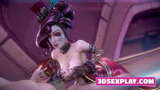 Video Games Girlfriends Enjoy a Big Cock 3D Collection