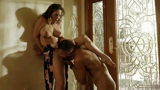 Naughty cheating couples passionate intercourse behind spouse's back