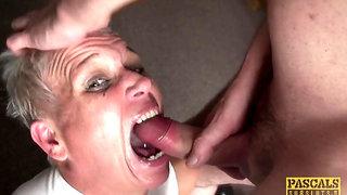Short-haired granny brutal sex video