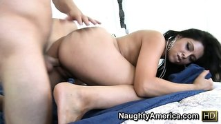 Erica Valentine, a dazzling babe with fabulous ass and tits, loves hardcore action