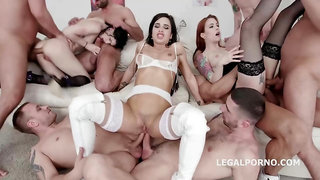 Mira Cuckold is having an orgy with her good friends, in the middle of the day