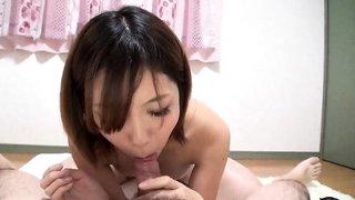 Blowjob from Japanese girl in POV porn