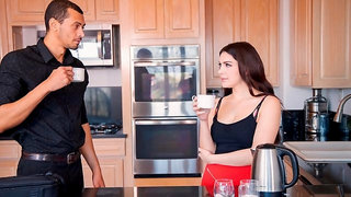 Curly-haired chick Valentina Nappi nicely penetrated by a massive black dick