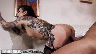Big Dick Pounds Joanna Angel To Jizz Explosion On Tattoos!