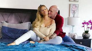 Big-boobed Spanish blonde Bridgette B screwed by a long dick