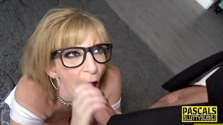 Mature busty submissive