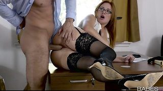 Sexy ass secretary shows her boss what a real woman can do