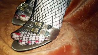 Lady L golden sandals.