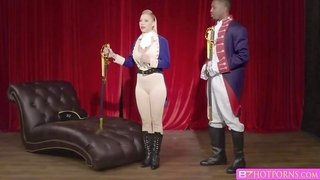 Bigtits blonde Katie Morgan fucks and sucks bbc at theater