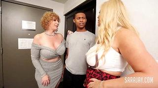 Noisy Neighbor Sara Jay Interracial Threesome