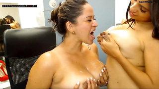 Sucking tits, hot Niley