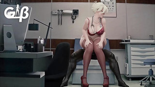 Mercy Office Anal Ride (Animation W/Sound)