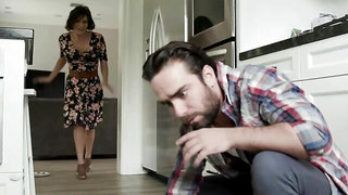 Lustful mommy is having a sexual affair with her son's best friend
