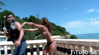 Wonderful brunette Black Angelika enjoys every second