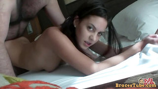 Teenie With Braces Filthy Porn Video