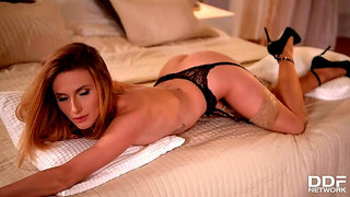 Masterful Masturbation - Playboy Bunny's Boudoir Photo Shoot