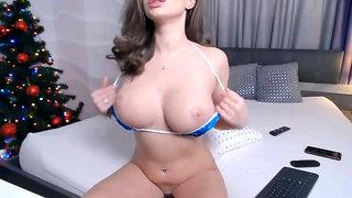 Russian NASTYA - webcam slut with big natural tits solo