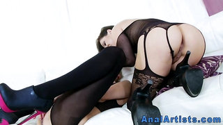 Lesbian licking prolapsed asses