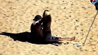 Beach voyeur finds a lustful young couple having hot sex