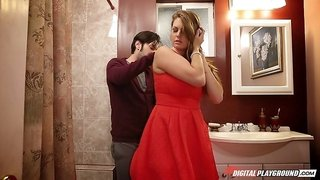 Chubby Allison Moore stripped of her red dress and fucked