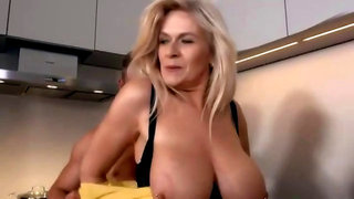 German huge titted mature