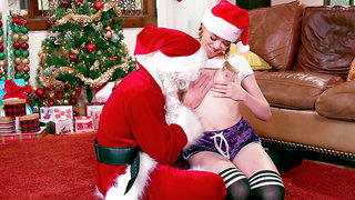 Anny Aurora has a holiday sex date with Santa Claus himself