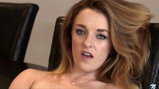 Kate Kennedy is completely nude and very busy masturbating, because she is desperate for an orgasm