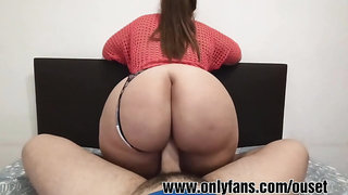 Latin girl with huge ass sits on top of my cock