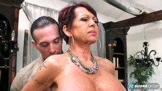 Hot milf getting fucked but a young guy