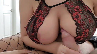 Crystal Lust, my stepmother - curvy brunette with nice juggs