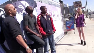 Abigaile Johnson Gets Gangbanged By Black Cocks