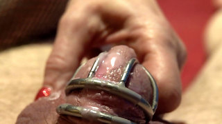 wax on a chastity cage