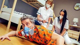 Stuck Between Two Nurses