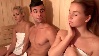 PornZin.com - this group session take place in a sauna