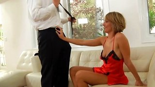 This blonde mature will do anything it takes to satisfy her man
