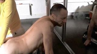 German Spanking Handjob
