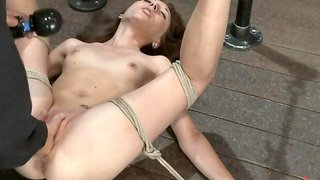 Emma Haize Is Helpless We Clamp Her Sensitive Nipples Flog Her Swollen Pussy, Make Her Squirt - HogTied