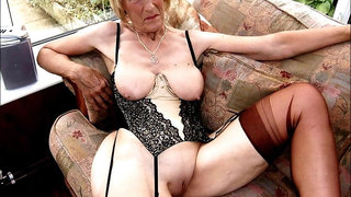 mature blond interracial stockings first time