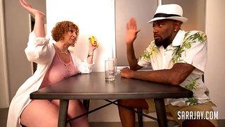 white PAWG MILF sara jay share BBC with busty ebony - interracial threesome wth cum load