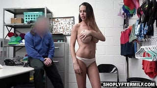 Perv officer romping Mckenzie Lees sweet milf pussy for her freedom