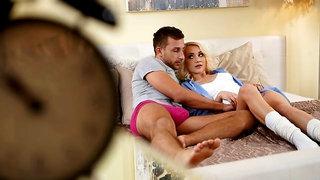 Perky blonde adores her boyfriend