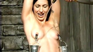 Buckets Of Water On Her Nipples