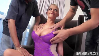 Joslyn James hot busty babe amazing gangbang