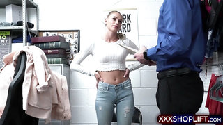 Blonde shoplifter is a liar and needs to be punished